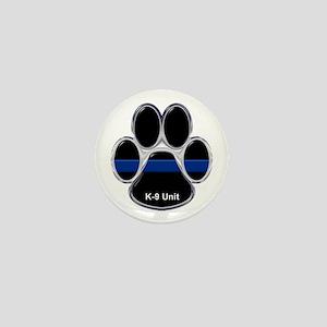 K-9 Unit Thin Blue Line Mini Button