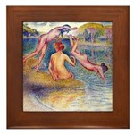 Cross - The Bathers Framed Tile