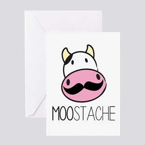 MOOstache Greeting Cards