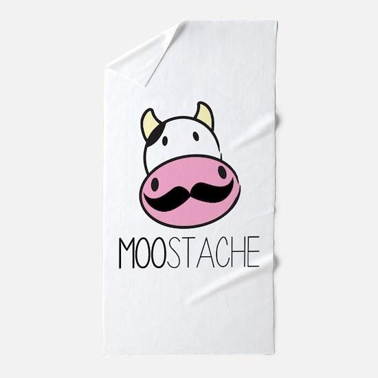 MOOstache Beach Towel