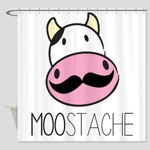 MOOstache Shower Curtain