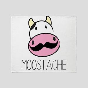 MOOstache Throw Blanket