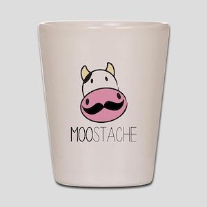 MOOstache Shot Glass