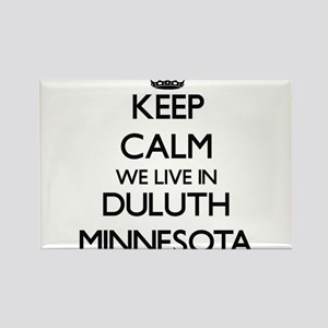Keep calm we live in Duluth Minnesota Magnets
