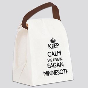 Keep calm we live in Eagan Minnes Canvas Lunch Bag