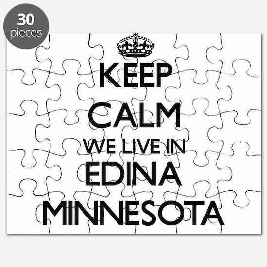 Keep calm we live in Edina Minnesota Puzzle