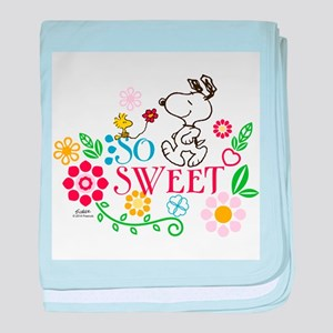 So Sweet - Snoopy baby blanket
