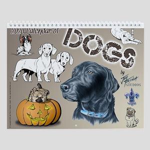 Calendar Of Dogs Wall Calendar