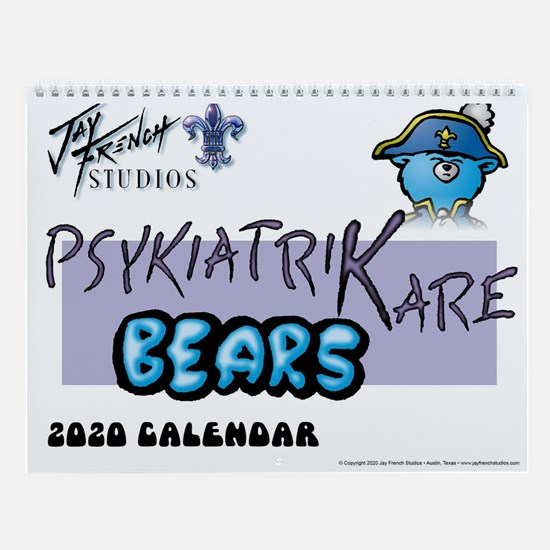 Psykiatrikare Bears 12-Month Wall Calendar