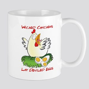 Wicked Chickens lay Deviled Eggs Mugs
