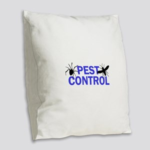 Pest Control Burlap Throw Pillow