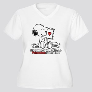 Happiness is a Valentine Plus Size T-Shirt