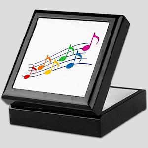 Rainbow Music Notes Keepsake Box