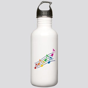 Rainbow Music Notes Stainless Water Bottle 1.0L