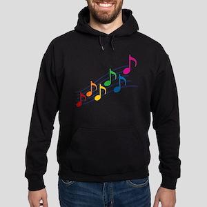 Rainbow Music Notes Hoodie (dark)