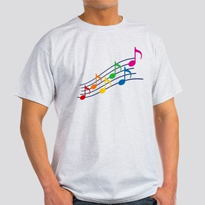 Rainbow Music Notes Light T-Shirt