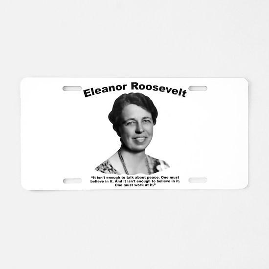 Eleanor: Peace Aluminum License Plate