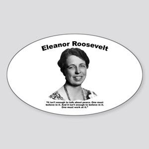 Eleanor: Peace Sticker (Oval)