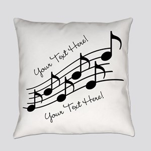 Music Notes PERSONALIZED Master Pillow