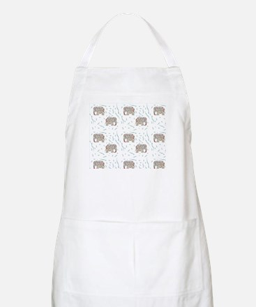 Floral Elephant in Water Apron