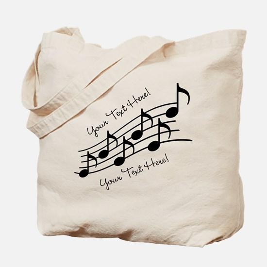 Music Notes PERSONALIZED Tote Bag