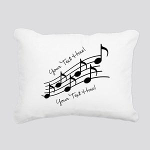 Music Notes PERSONALIZED Rectangular Canvas Pillow