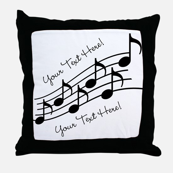 Music Notes PERSONALIZED Throw Pillow