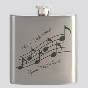 Music Notes PERSONALIZED Flask
