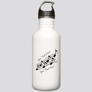 Music Notes PERSONALIZED Water Bottle