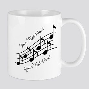 Music Notes PERSONALIZED Mugs