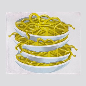 Bowls Of Noodles Throw Blanket
