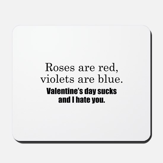 Roses Are Red Mousepad