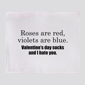 Roses Are Red Stadium Blanket