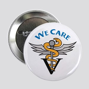"""VETERINARIAN WE CARE 2.25"""" Button (10 pack)"""
