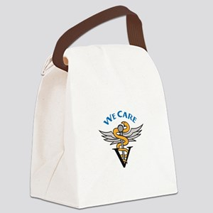 VETERINARIAN WE CARE Canvas Lunch Bag