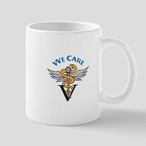 VETERINARIAN WE CARE Mugs