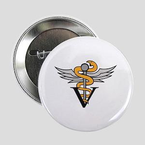 """VETERINARIAN CADUCEUS 2.25"""" Button (10 pack)"""