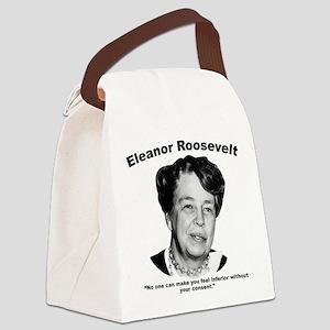 Eleanor: Inferior Canvas Lunch Bag