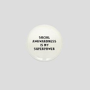 Social Awkward Mini Button