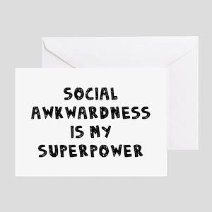 Social Awkward Greeting Card