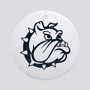 ONE COLOR BULLDOG Ornament (Round)