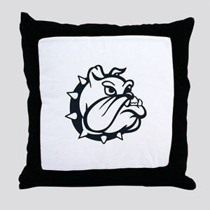 ONE COLOR BULLDOG Throw Pillow