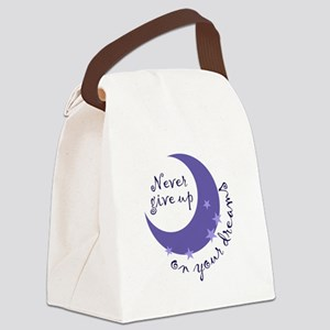 NEVER GIVE UP ON DREAMS Canvas Lunch Bag