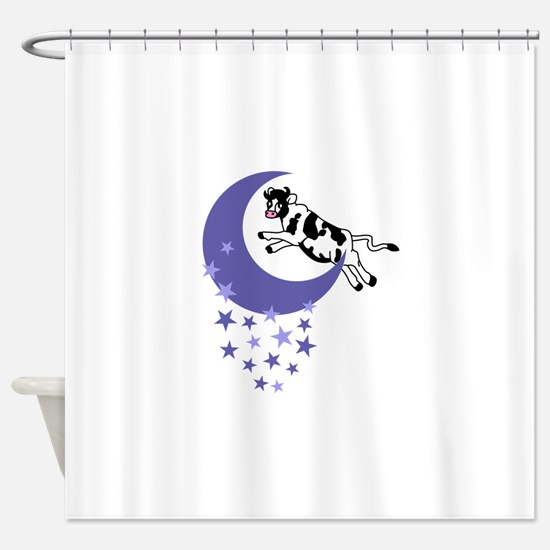 COW JUMPED OVER THE MOON Shower Curtain