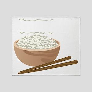 White Rice Throw Blanket