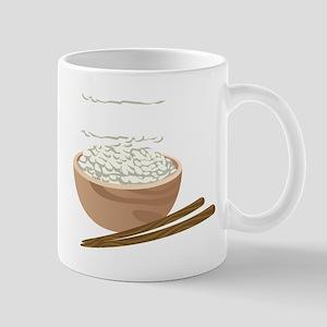 White Rice Mugs