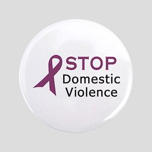 "STOP DOMESTIC VIOLENCE 3.5"" Button"