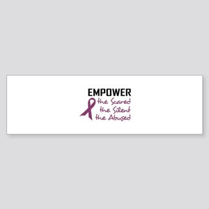 EMPOWER THE ABUSED Bumper Sticker