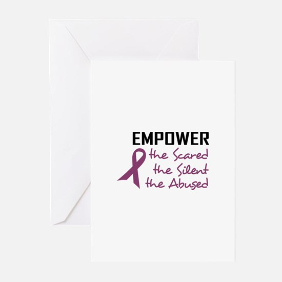 EMPOWER THE ABUSED Greeting Cards
