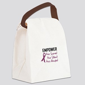 EMPOWER THE ABUSED Canvas Lunch Bag